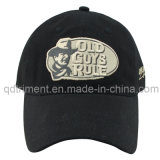 Embossed Plastic Snap Buckle Embroidery Twill Leisure Baseball Cap (TRB033)