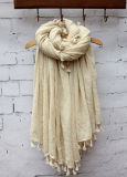 Form-Silk Rohbaumwolle-Leinensprung-Herbst-Schal