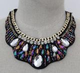 Halsband van de Kraag van de Nauwsluitende halsketting van het Kristal van de Parel van de Juwelen van de manier de Ruige (JE0044)