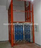 Ascenseur de cargaison avec la porte d'atterrissage de sûreté