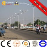 Rue solaire Light Pole avec lumière LED