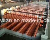 Rolo da camada dobro que dá forma ao rolo do painel do telhado de Ibr da máquina que dá forma à máquina