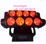 2015 New 8 Eyes LED Spider Moving Head 10 Watts RGBW 4 en 1