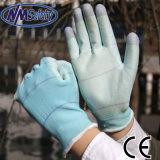 Перчатка PU полиэфира Nmsafety U3 покрытая садовничая
