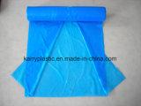 sacs d'ordures plats de HDPE de 70*110cm, sacs C-Pliés sur le roulis