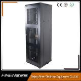 Estante exquisito del servidor de la cabina de la red de 19 pulgadas con la puerta de cristal