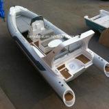 Material de casco de fibra de vidro e certificação Ce Barco inflável rígido 22FT