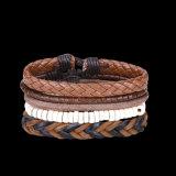 Insiemi dei braccialetti tessuti annata punk occidentale di stile dei braccialetti