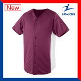 Chemise simple du Jersey de base-ball d'années de l'adolescence de Sulimation de blanc d'habillement de Healong Dedign