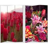 جميل بهيّة زهرات طبعة أكثر إلى حدّ ما 3 لون نوع خيش شاشة & [رووم ديفيدر]