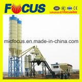 Meistgekaufter Zufuhrbehälter-Typ Gesamtzufuhr-konkrete Mischanlage Hzs75