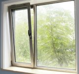 Aluminio recubierto de polvo de color blanco de la ventana Tilt-Turn