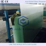 Vidrio templado con vidrio grabado ácido y vidrio de hoja 2-12mm