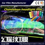 De Lichte Sticker van de Auto van de Film van de Verandering van de Kleur van de Auto van de manier, Lichte het Kleuren van de Auto van het Kameleon Film