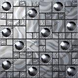 Wandmosaik Dekoration, Edelstahl Mosaik, Silbrig Metall Mosaik