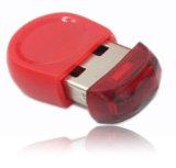 Tamaño pequeño palillo de USB con el logotipo impreso