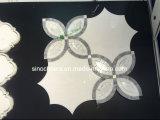 [إيتلين] كراره رخام بيضاء يصقل وتصميم خاصّ بالأزهار [موسيك تيل], أبيض, [سمب]