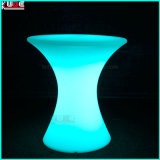 Glühender Tisch mit Tischen der Speicherglasoberseite-LED