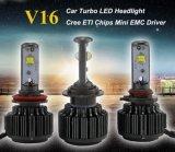 Farol principal do diodo emissor de luz do CREE H4 da luz 40W 3600lm do diodo emissor de luz de Turbo V16 do auto farol do diodo emissor de luz