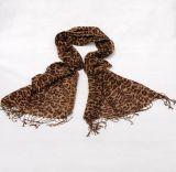 نساء خيزرانيّ طباعة [ليوبردسبرينغ] فصل خريف فصل صيف يحاك شاطئ تغذية شاش [سنوود] أنشوطة وشاح ([سو131])