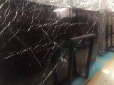 Nero Marquina/China losa de mármol negro/pared de azulejos y suelos/moldura/Water-Jet/Medallón/Mosaico