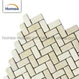 Piedra de la naturaleza de alta calidad nuevo mosaico de mármol beige baldosa ladrillo piso del baño Decoración