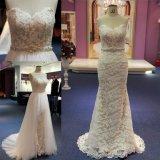 Vestido de casamento destacável da saia de Tulle do vestido longo do laço da sereia de Sweetheat