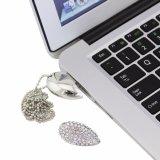 Lecteur flash USB en forme de coeur en cristal en métal du jour de Valentine pour le cadeau de luxe
