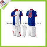 Futebol 100% respirável do poliéster feito sob encomenda do Sportswear Jersey para homens