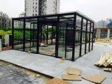 Sunroomの単層の明確なガラス黒い格子鋼鉄Windows
