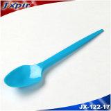Colher plástica pequena colorida 1.6g 125mm do gelado do Teaspoon Jx122