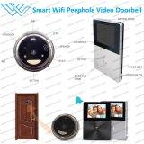 Sistema de intercomunicación video del timbre elegante de la cámara de WiFi de la puerta del Peephole de la detección del movimiento de PIR