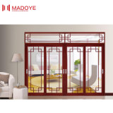 Сделано в конструкции решетки раздвижной двери Tempered стекла Китая