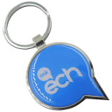 Metal de sellado redondo de encargo Keychains para la promoción