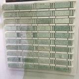 Mosaico popular de la piedra del color verde del azulejo de la pared del diseño para la venta