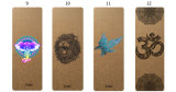 7 Vriendschappelijke Cork van het Natuurlijke Rubber Chakra de Douane Afgedrukte Eco Mat van de Yoga