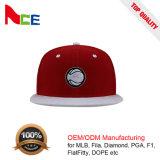 Chian製造者ODMのカスタム平らな刺繍の赤い王冠の白い縁の急な回復の帽子