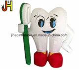 Популярный раздувной белый воздушный шар гелия зуба для промотирования
