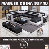 Mobiliário de estilo europeu de imitação de sofá de couro com mesa de café