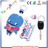 Promozionale progettare la gomma piuma per il cliente Keychain di EVA