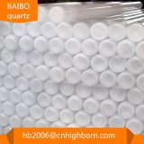 Baibo 편평한 바닥 불투명한 석영 관 또는 석영 유리 소매
