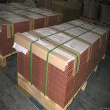 Placa de cátodos de cobre el 99,99% (UT2, C1020T, C10200, T2), la chatarra de cobre