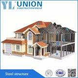 Costruzione d'acciaio prefabbricata di lusso del tetto di Hous del blocco per grafici d'acciaio