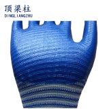 gants enduits de sûreté de nitriles du polyester 13G avec la Zèbre-Piste