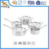 Cookware triple martillado del acero inoxidable fijado (CX-ST0901)