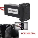 12V 5 В ЭБУ АБС 2 порта двойного назначения зарядка через USB автомобильное зарядное устройство для Mazda телефон iPad зарядного устройства USB