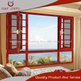 Salto térmico de gama alta de madera aluminio Casement Window