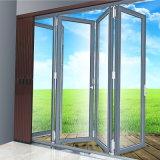Porta deDobramento do perfil de alumínio com vidro desobstruído dobro