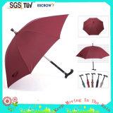 Guarda-chuva durável da muleta do punho reto