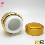 空の金アルミニウムクリーム色の瓶